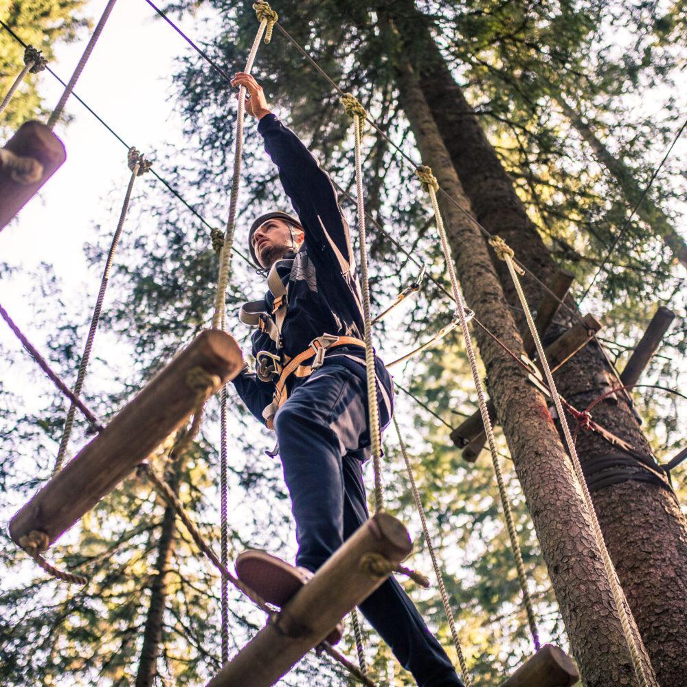 Misterwahl Klettern, Waldseilgarten DamŸls, Mister Vorarlberg, Hochseilgarten